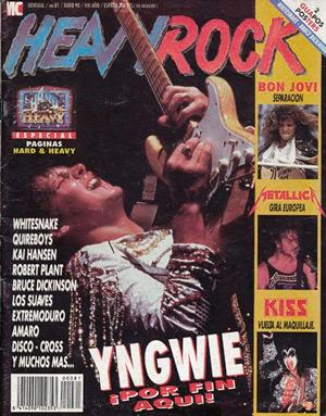 Portada del número 81 de la Heavy Rock