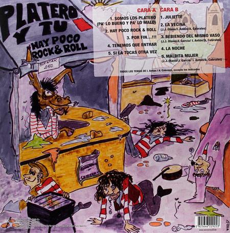 Vinilo reeditado 'Hay Poco R&R' (2014)-trasera