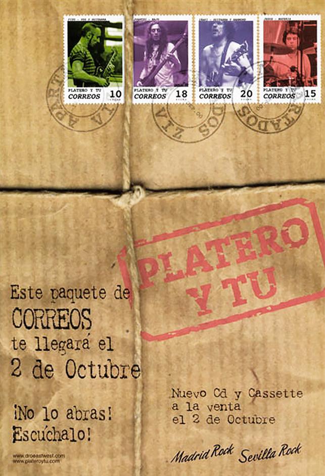 Cartel promocional del nuevo disco de Platero y Tú