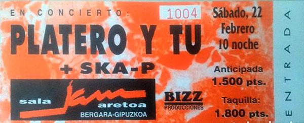 Entrada-Platero-y-Tu-año-1997-02-22-sala-jam-aretoa-bergara