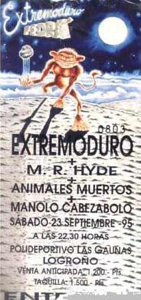 Entrada-Extremoduro-Pedra-año-1995-09-23-Polideportivo-Las-Gaunas-Logroño