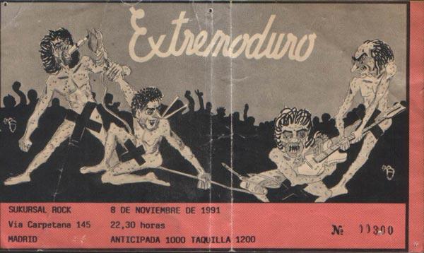 entrada-extremoduro-año-1991-11-08-Sukursal