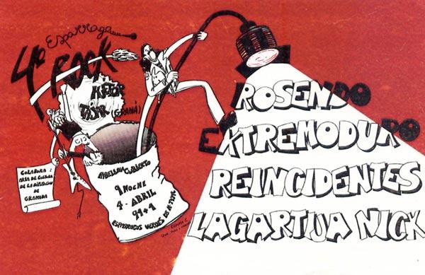 Entrada-Extremoduro-año-1992-04-04-IV-Esparrago-Rock
