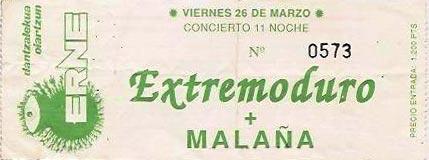 Entrada-Extremoduro-año-1993-03-26-Oiartzun