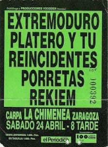 Entrada-Extremoduro-y-Platero-año-1993-04-24-carpa-La-chimenea-Zaragoza