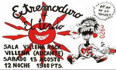 Entrada-Extremoduro-año-1994-08-13-Sala-Villena-Rock-Alicante