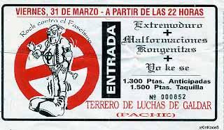 Entrada-Extremoduro-año-1995-03-31-Terreno-de-luchas-de-galdar-canarias