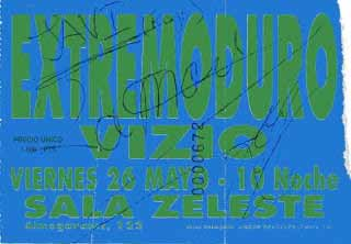 Entrada-Extremoduro-año-1995-05-26-Sala-Zeleste-Barcelona