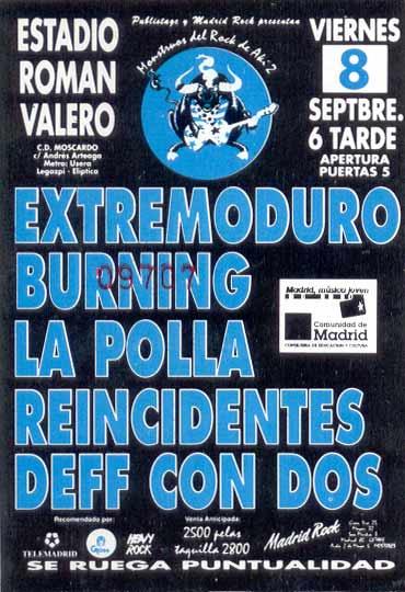 Entrada-Extremoduro-año-1995-09-08-16-Monstruos-del-rock-de-aki-2-Las-Ventas-Madrid