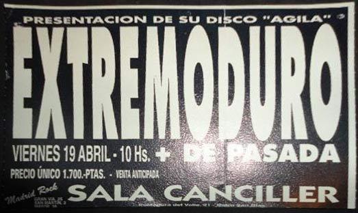Extremoduro llenó la Canciller de Madrid tres veces en el mes de abril
