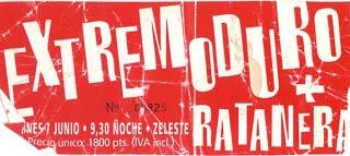 Entrada-Extremoduro-año-1996-06-07-Sala-Zeleste-Barcelona