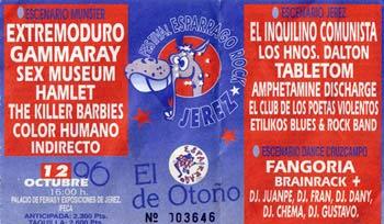 Entrada-Extremoduro-año-1996-10-12-Esparrago-Rock-Jerez