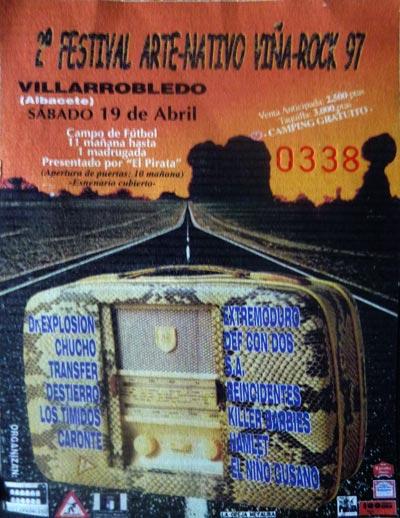 Entrada-Extremoduro-año-1997-04-19-Segunda-edicion-ViñaRock