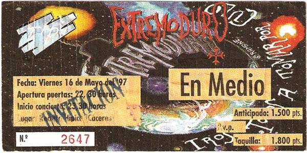 Entrada-Extremoduro-año-1997-05-16-Recinto-Hipico-Caceres