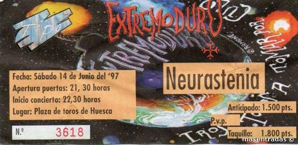 Entrada-Extremoduro-año-1997-06-14-Plaza-de-toros-Huesca