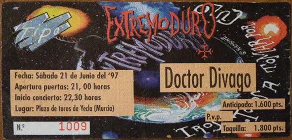 Entrada-Extremoduro-año-1997-06-21-Plaza-de-toros-de-Yecla-Murcia