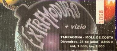 Entrada-Extremoduro-año-1997-07-25-Moll-de-Costa-Tarragona