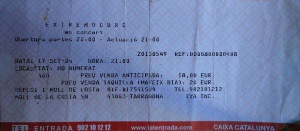 Entrada-Extremoduro-año-2004-09-17-Tarragona
