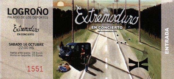 Entrada-Extremoduro-año-2004-10-16-Palacio-de-los-deportes-de-Logroño
