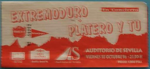 Entrada-Extremoduro-y-Platero-y-Tu-año-1996-10-18-Sevilla