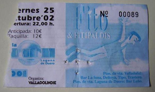 Entrada-Fito-Fitipaldis-año-2002-10-25-Sala-Factory-Valladolid