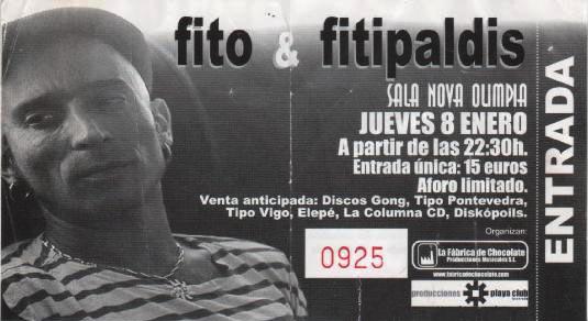 Entrada-Fito-Fitipaldis-año-2004-01-08-sala-Nova-Olimpia-Vigo