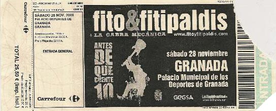 Entrada-Fito-Fitipaldis-año-2009-11-28-Palacio-de-los-Deportes-Granada