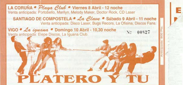 Entrada-Platero-y-Tu-año-1994-04-08-09-10-gira-Galega