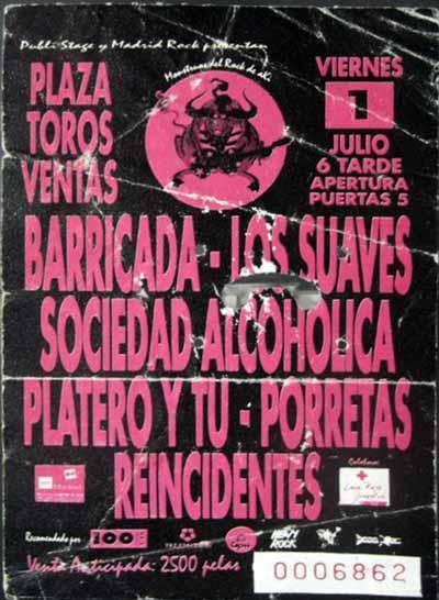 Entrada-Platero-y-Tu-año-1994-07-01-Monstruos-del-Rock-de-Aki-Madrid