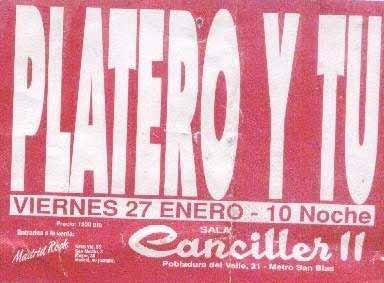 Entrada-Platero-y-Tu-año-1995-01-27-Sala-Canciller-2-Madrid