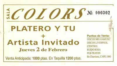 Entrada-Platero-y-Tu-año-1995-02-02-Sala-Colors