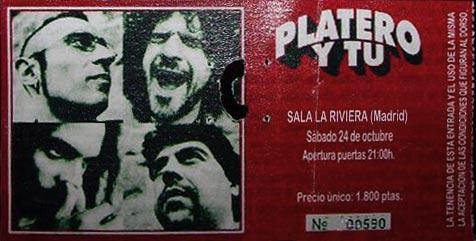 Entrada-Platero-y-Tu-año-1998-10-24-La-Riviera-Madrid