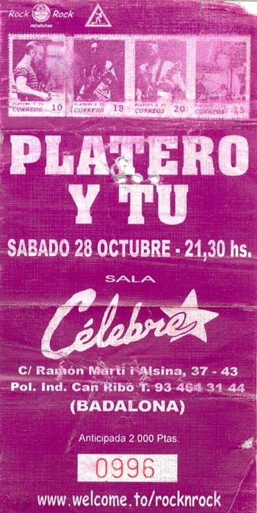 Entrada-Platero-y-Tu-año-2000-10-28-Sala-Celebre-Badalona