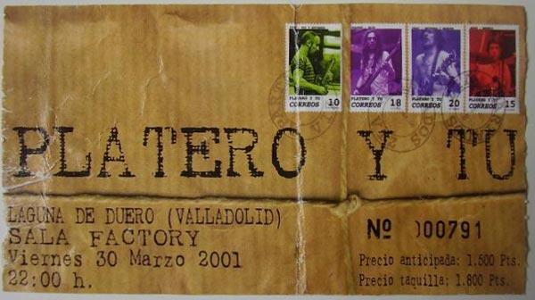 Entrada-Platero-y-Tu-año-2001-03-30-Sala-Factory-Valladolid
