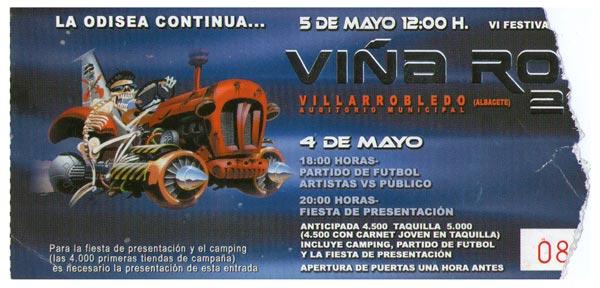 Entrada-Platero-y-Tu-año-2001-05-03-04-05-Viña-Rock-2001