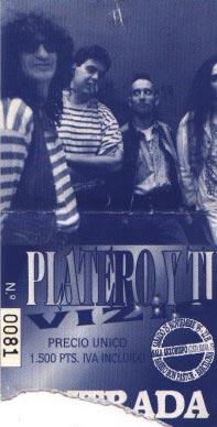 Entrada-Platero-y-Tu-grabacion-A-Pelo-año-1995-11-25-Sala-Arzobispo-Barcelona