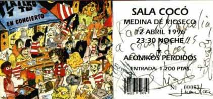 Entrada-Platero-y-Tu-y-Afonikos-Perdidos-año-1996-04-12-Sala-Coco-Medina-de-Rioseco