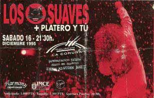 Entrada-Platero-y-Tu-y-Los-Suaves-año-1995-12-16-Coliseum-A-Coruña