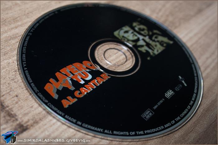 Single 'Al cantar' de Platero y Tú año 1998 - detalle