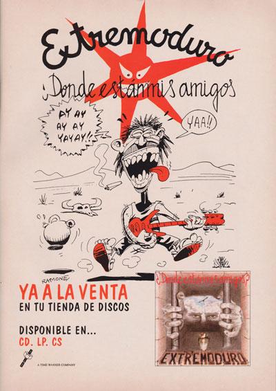 Cartel-Extremoduro-año-1993-Octubre-anuncio-¿Dónde están mis amigos?