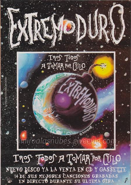 Cartel-Extremoduro-anunciando-disco-directo-año-1997 - Mayo de 1997