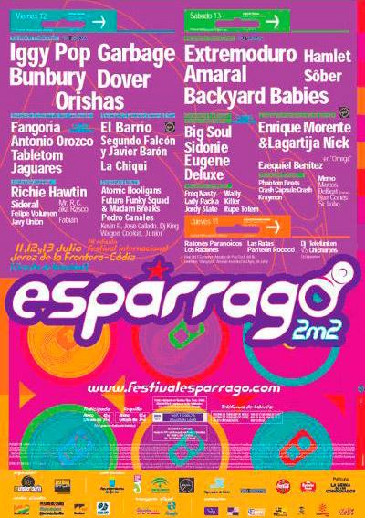 Cartel-Extremoduro-año-2002-Espárrago-Rock