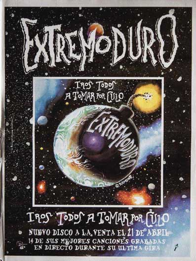 Cartel-Extremoduro-anunciando-disco-directo-año-1997 - Abril de 1997