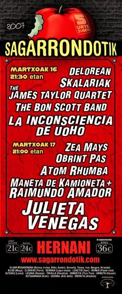 Cartel-Festival-Sagarrondotik-Hernani-año-2007-03-16-primer-concierto-de-Inconscientes
