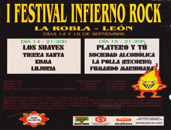 Cartel-Platero-y-Tu-Festival-Infierno-Rock-año-2001-09-15-La-Robla-Leon