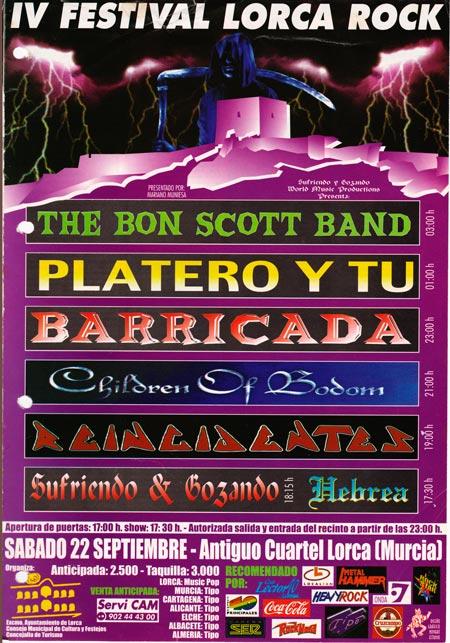 Cartel-Platero-y-Tu-IV-Lorca-Rock-año-2001-09-22-Murcia