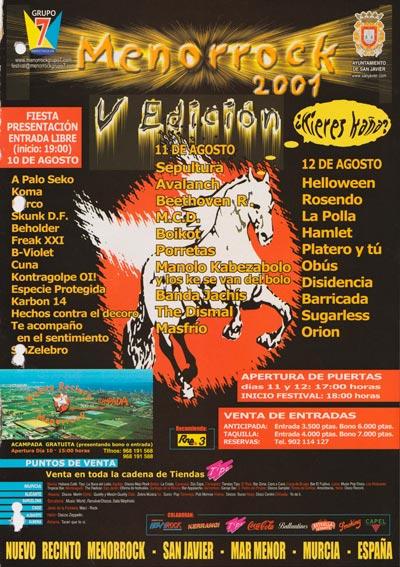 Cartel-Platero-y-Tu-Menorock-año-2001-08-12-San-Javier