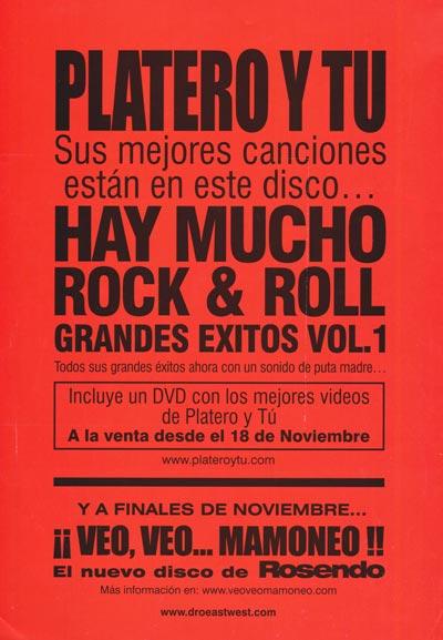 Cartel-Platero-y-Tu-año-2002-Noviembre-anuncio-Hay-mucho-rock-and-roll-volumen-I