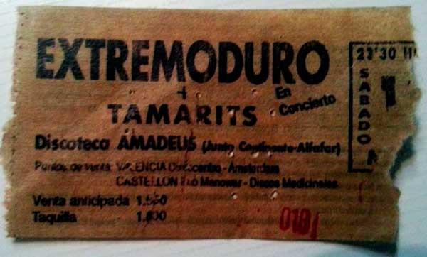 Entrada-Extremoduro-Discoteca-Amadeus-Alfafar-valencia