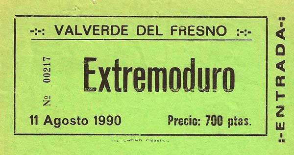 Entrada-Extremoduro-año-1990-08-11-Valverde-del-Fresno-Caceres